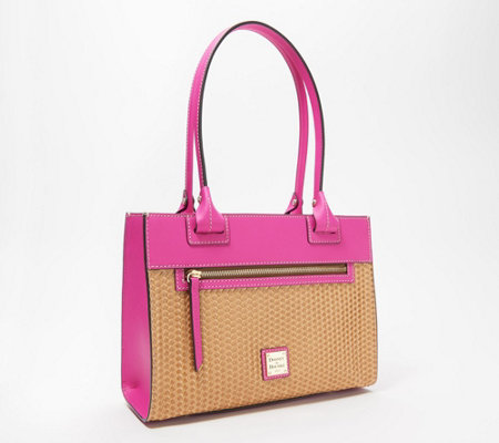Dooney & Bourke Beacon Leather Woven Janine Tote