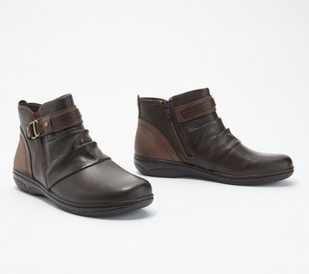 Earth Origins Leather Ankle Boots - Glendale Gamila