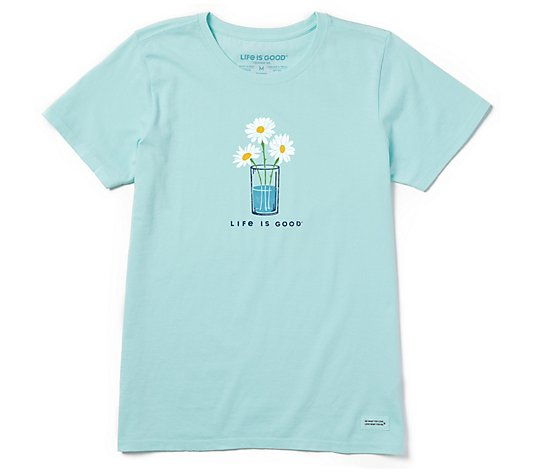 Life is Good Women's Daisy Trio Crusher Tee