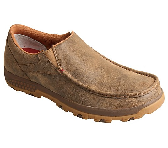 Twisted X Men's CellStretch Slip-On Moccasins -Bomber