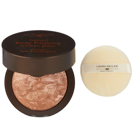 Laura Geller Tahitian Glow Baked Body Frosting and Puff