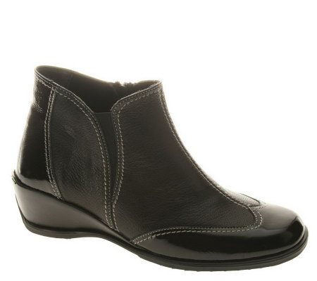 Spring Step Style Coty Leather Ankle Boots