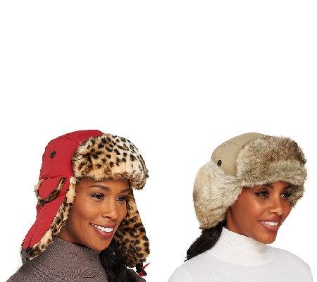 1c167774fef Trapper Hat with Ear Flaps and Faux Fur Trim — QVC.com