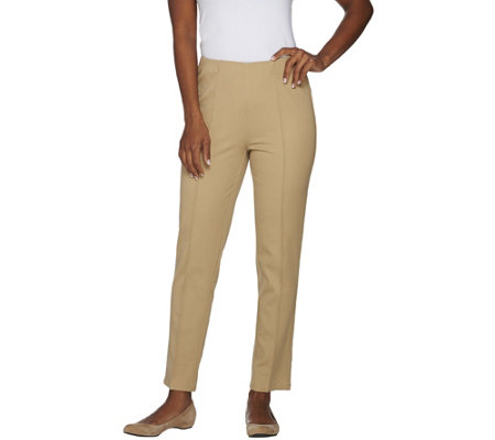 Isaac Mizrahi Live! Petite 24/7 Stretch Ankle Pants w/ Seam Detail