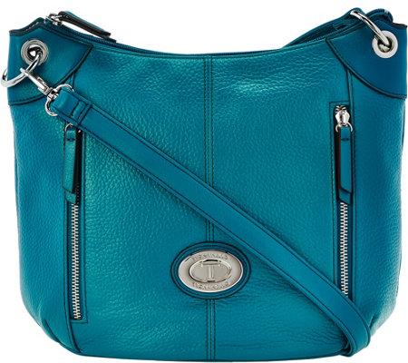 Pebble Leather Crossbody Bag