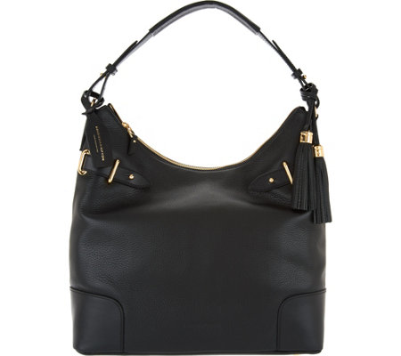 Isaac Mizrahi Live! Bridgehampton Pebble Leather Hobo Handbag