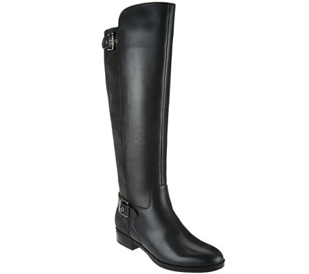 """As Is"" Marc Fisher Medium Calf Tall Shaft Leather Boots - Damsel"