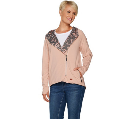 da93c19c57 Peace Love World Reversible Knit Jacket with Allover Print — QVC.com