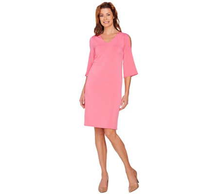 """As Is"" Kelly by Clinton Kelly Cold Shoulder Dress"