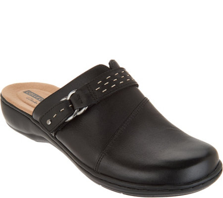 """As Is"" Clarks Leather Lightweight Clogs- Leisa Sadie"