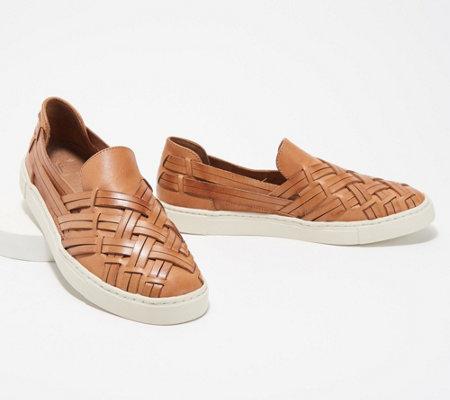 Frye Leather Slip On Shoes Ivy Huarache