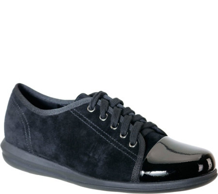 David Tate Leather Lace Up Sneakers Siren