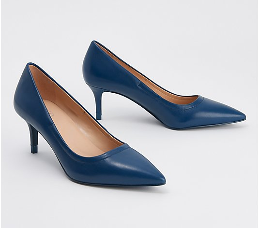 """As Is"" Franco Sarto In Forma Leather Pumps - Trolley"