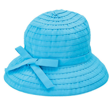 San Diego Hat Co. Ribbon Braid Bucket Hat withAdjustable Tie