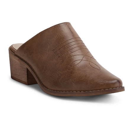 Wanted Western-Inspired Mules - Lila