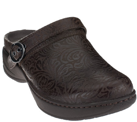 Dansko Leather Slip-on Clogs - Allison