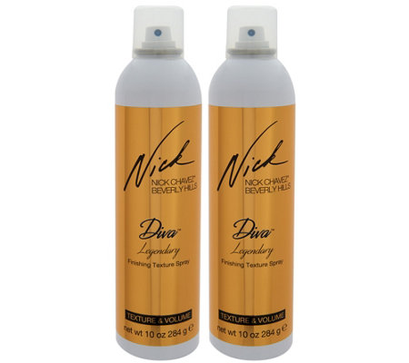 Nick Chavez Diva Legendary Dry Texturizing 10 oz. Spray Duo