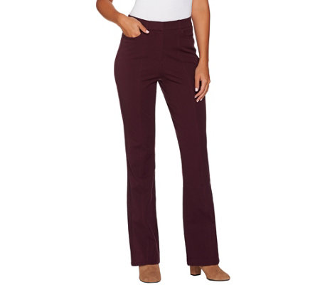 """As Is"" Isaac Mizrahi Live! Regular 24/7 Stretch Boot Cut Pants"