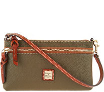 Dooney & Bourke Pebble Leather Tech Top Zip Pouch - A298965