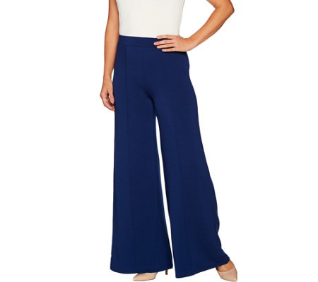 Lisa Rinna Collection Palazzo Pant with Pintuck