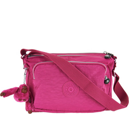 """As Is"" Kipling Nylon Adjustable Shoulder Bag- Reth"