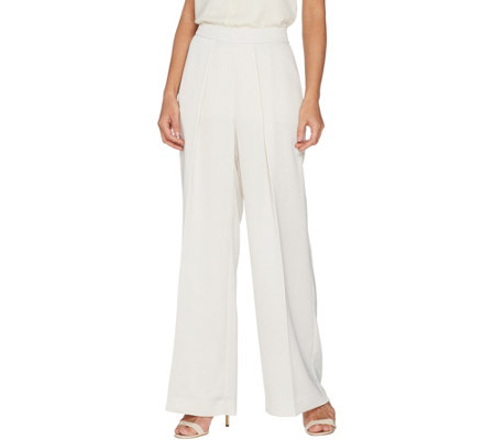 Lisa Rinna Collection Woven Wide Leg Pants