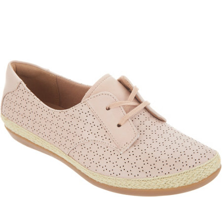 Clarks Perforated Leather Lace-Up Shoes - Danelly Millie