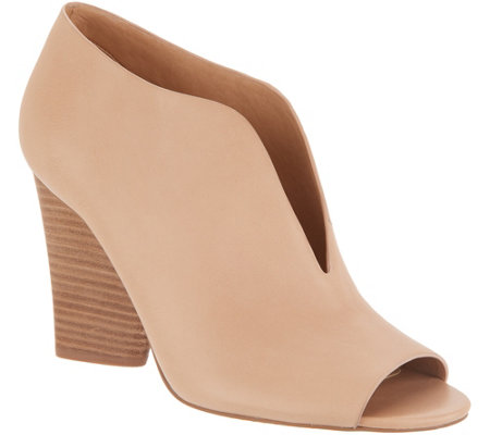 Vince Camuto Leather Deep V Peep-toe Booties - Andrita