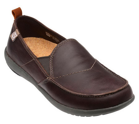 Spenco Men's Siesta Leather Slip-Ons