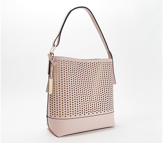 Vince Camuto Leather Perforated Hobo - Leif