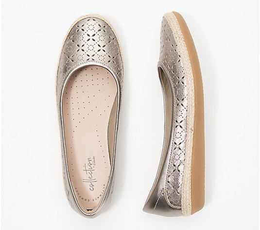 Clarks Collection Perforated Slip-On Flats - Danelly Art
