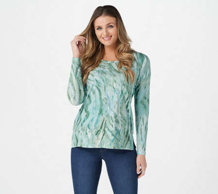 Belle by Kim Gravel Printed Watercolor Hacci Top