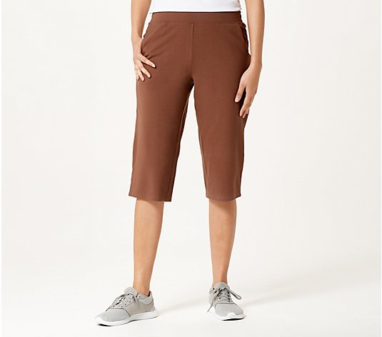 Denim & Co. Active Duo Stretch Skimmer Length Pants