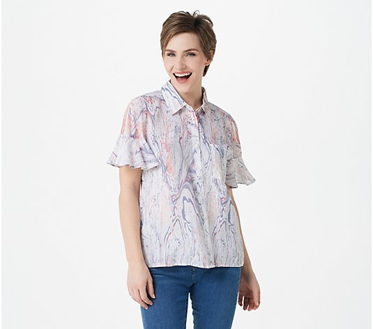 Tolani Collection Abstract Shirt