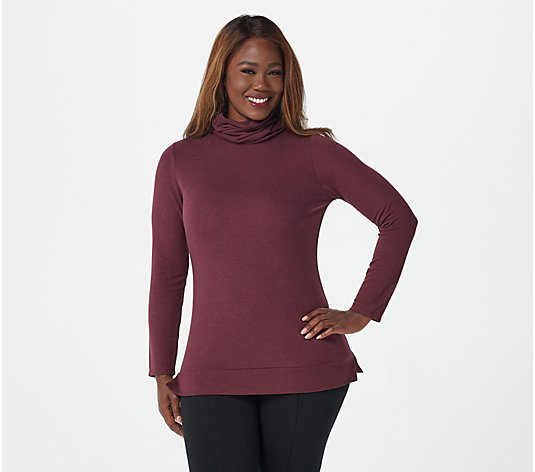 """As Is"" Lisa Rinna Collection Turtle Neck Top"