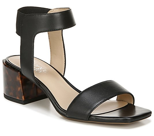 Franco Sarto Leather Ankle Strap Sandals - Mable