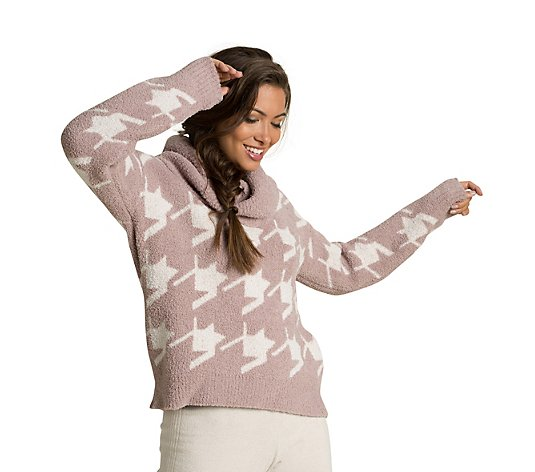 Barefoot Dreams CozyChic Houndstooth Pullover