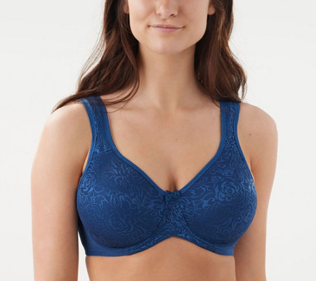 Breezies Wild Rose Lace Seamless Underwire Bra
