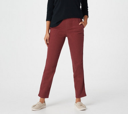 "Denim & Co. 'How Timeless"" Petite 4-Pocket Pull-On Jeans"