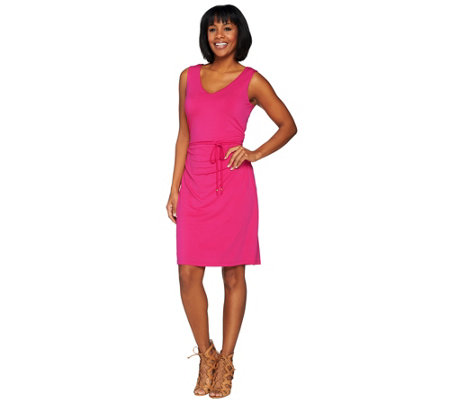 Kelly by Clinton Kelly Sun Dress with Tie Belt