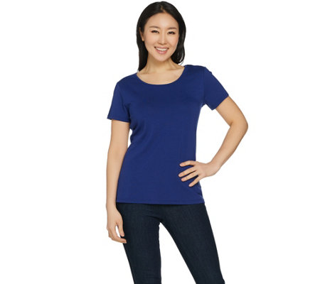 Susan Graver Modern Essentials Stretch Cotton Modal Top