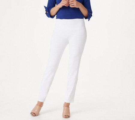 Women with Control Petite Tummy Control Prime Stretch Denim Jeans — QVC com