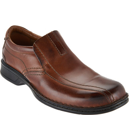 Clarks Men S Leather Slip On Shoes Escalade Step