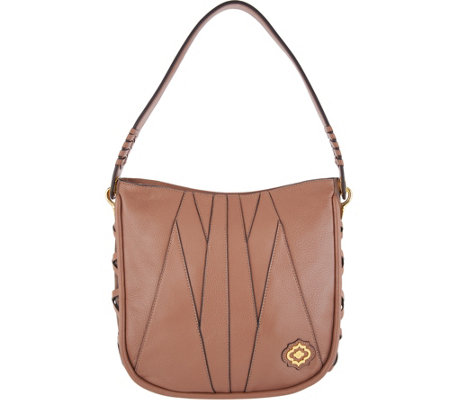 orYANY Pebble Leather & Suede Hobo Handbag