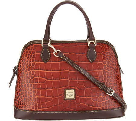 Dooney & Bourke Croco Leather Deana Satchel Handbag