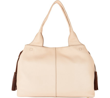"""As Is"" G.I.L.I. Italian Leather Stitch Shoulder Bag"