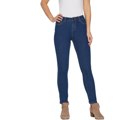 """As Is"" G.I.L.I. Petite Dual Stretch Denim Jeggings"