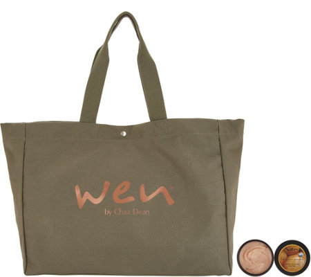 WEN by Chaz Dean 4-oz Re-Moist Mask Duo with WEN Tote