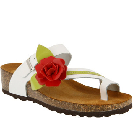 Spring Step Leather Thong Sandals - Lilah