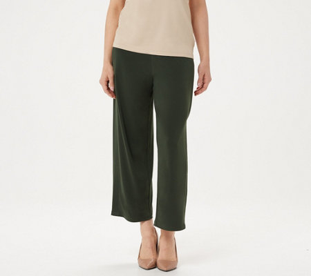 Every Day By Susan Graver Petite Liquid Knit Crop Pants
